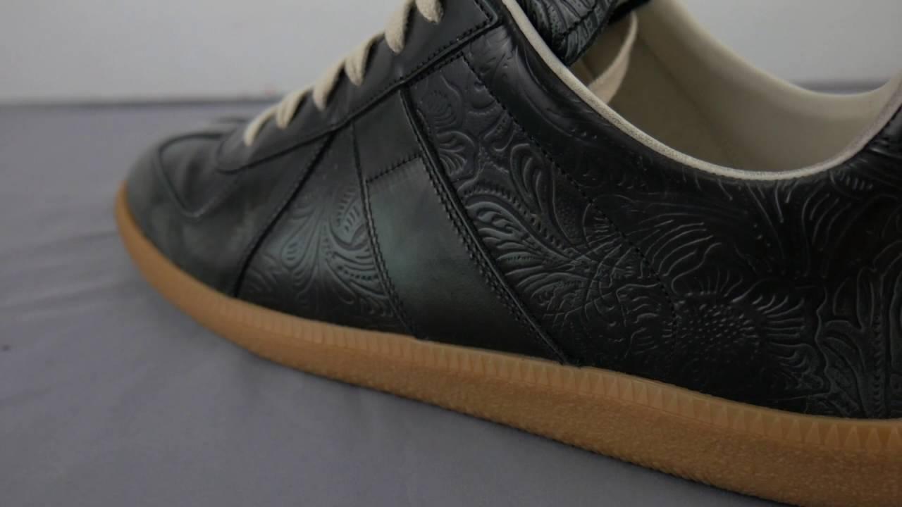 Maison Margiela Replica Sneakers (Black/Cloud Blue Embossed) - A Detailed Look - YouTube