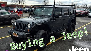 Buying a Jeep Wrangler!!