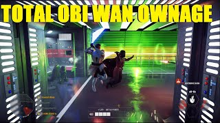 Star Wars Battlefront 2 - Obi Wan Kenobi DESTROYS the Death Star! | HUGE Obi Wan Killstreak!