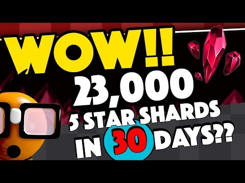 WOW! 23,000 5 Star Shards in 30 days - 2 Five Star Champions per Month