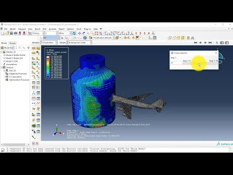 ABAQUS Tutorial | Boeing 747 Impact Analysis on Nuclear Containment Building | BW Engineering