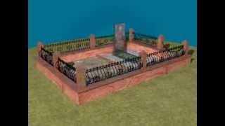 З D Памятник из гранита с анимацией(Обзорный показ памятника из гранита., 2013-08-24T19:13:02.000Z)