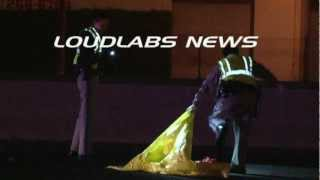Ped Killed on Freeway / East Los Angeles   RAW FOOTAGE *graphic*