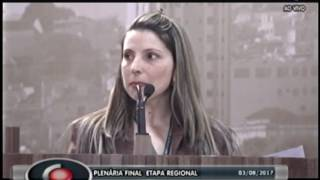 Plenária Final - Etapa Regional