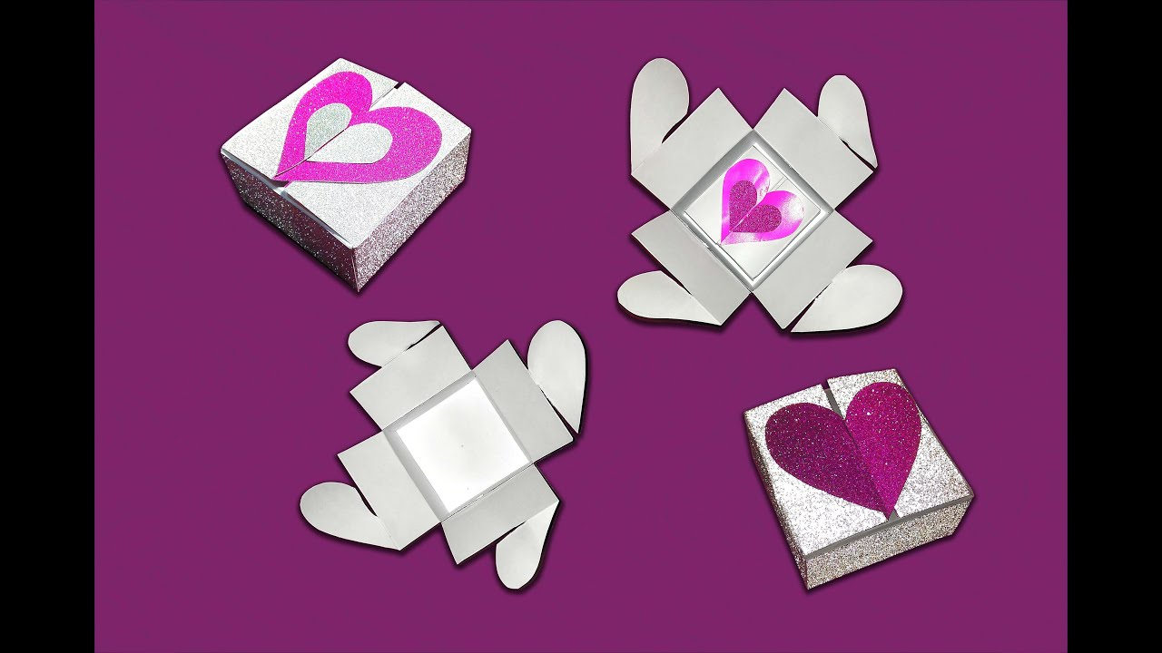 Heart Box Gift With Lock Valentines Ideas
