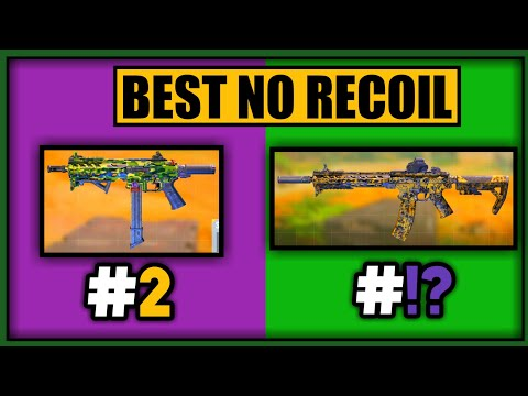 BEST ZERO/NO RECOIL GUNSMITH LOADOUTS in COD MOBILE SEASON 9 | CODM LOW RECOIL GUNS