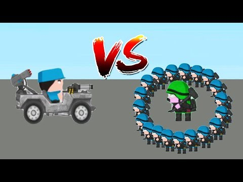 Clone Armies - Gameplay Walkthrough Part 23 - Jeep Hero VS Buster Fight Arena (iOS, Android)