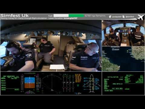 Worldflight 2016: Leg 18 Natal to Cape Verde pt 1 Simfest Boeing 747-400 Home Simulator