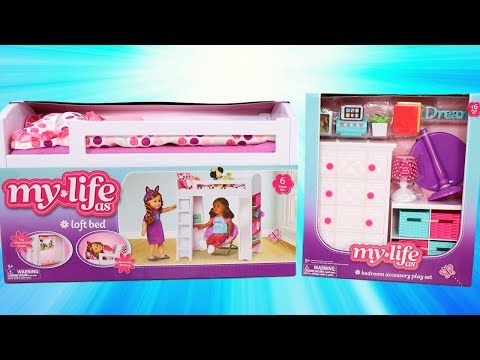 My Life As Bedroom Accessory Play Set Review with Loft Bed & Dresser