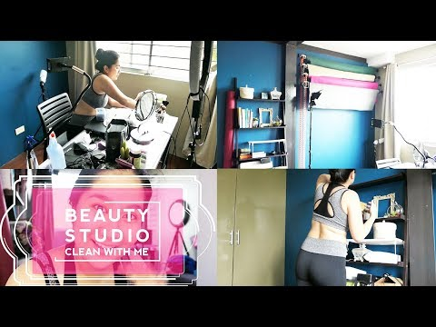 Clean With Me: LINISIN Natin Ang BEAUTY STUDIO  | Kris Lumagui