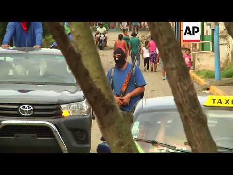 Grupos paramilitares controlan calles en Masaya, Nicaragua