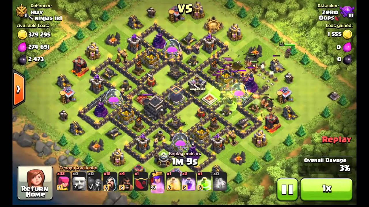 clash of clans town hall 9 defense (coc th9) best trophy base