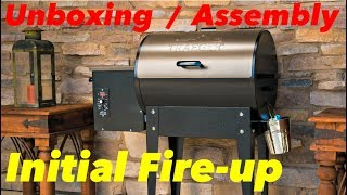 Traeger Junior Elite 20 Pellet Grill, in-depth unboxing, assembly & initial fire up, by Louie Molnar