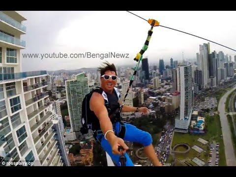 Adrenaline Junkies Create The World's Largest Urban Zipline (HD)