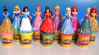10 Disney Princess MagiClip Collection using Play-Doh Sparkle ultimate collection