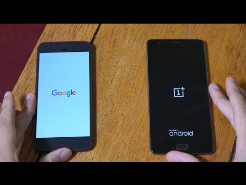 Google Pixel vs OnePlus 3 - Speed Test!