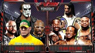 WWE RAW 2K15 : Sting, John Cena & Dudley Boyz vs Seth Rollins & New Day - 31/08/2015 Guest Booker