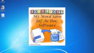 How To Use MS Word Save Rtf As Doc Software