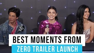 Zero trailer launch: Shah Rukh Khan, Anushka Sharma & Katrina Kaif's best moments captured