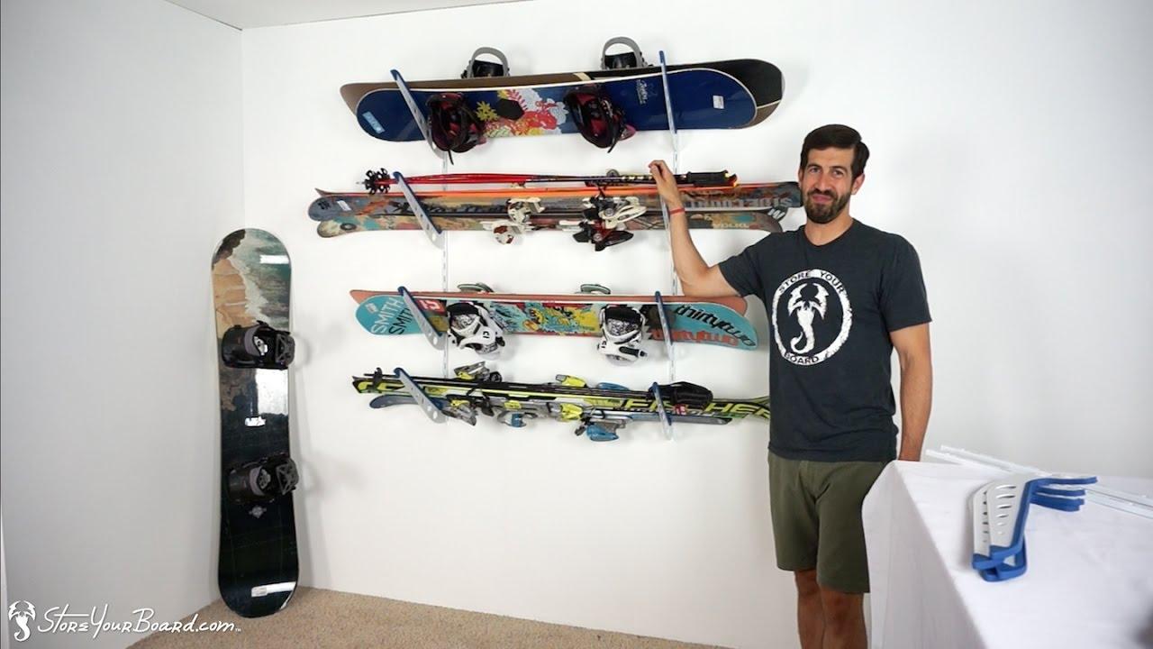 Ski U0026 Snowboard Storage Rack | Home Rack | StoreYourBoard