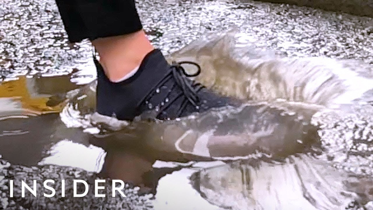 51a86d3f6298 We Tried Waterproof Shoes — And They Really Work! - YouTube