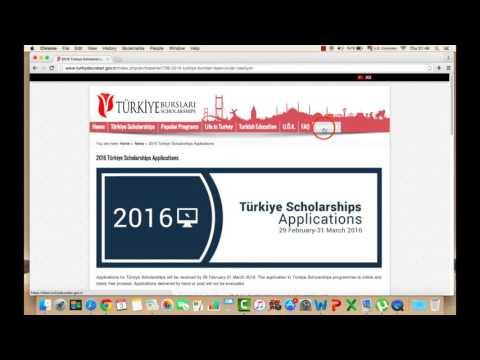 How to apply Turkey Scholarship 2016/17