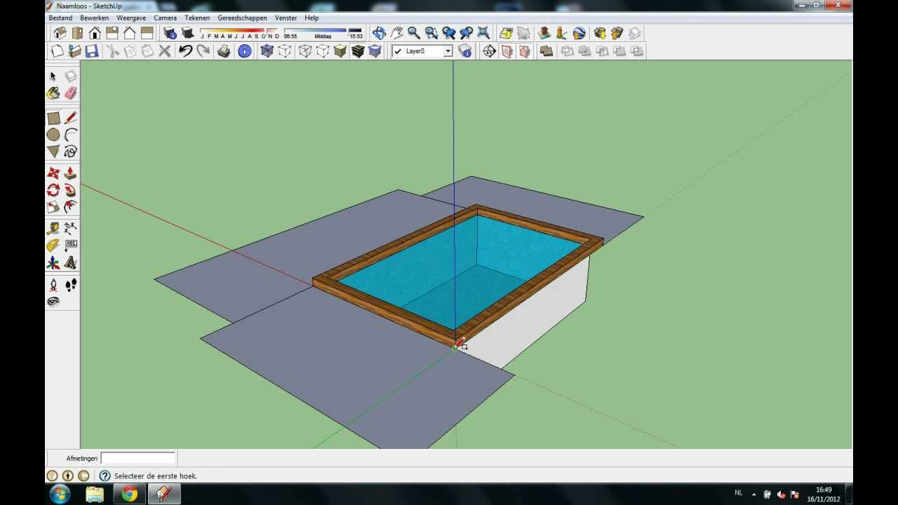 Tutorial how to make a swimming pool in google sketchup for Pool design sketchup