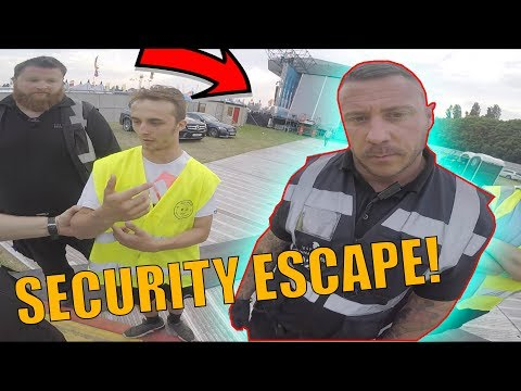 SNEAKING INTO FESTIVAL *ANGRY SECURITY ESCAPE*