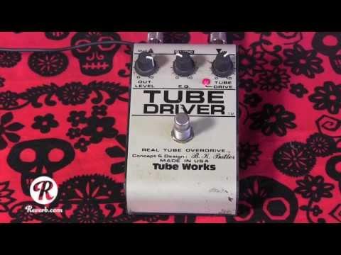 TubeWorks 3 knob Tube Driver guitar pedal demo with Kingbee strat