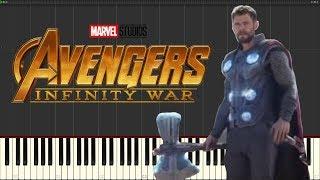 Avengers: Infinity War - Thor Arrives In Wakanda - Piano Tutorial