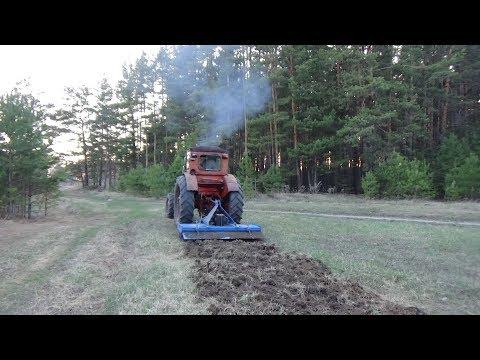 Пробуем почво фрезу по целине ,сломали три ножа,посадили картофель.