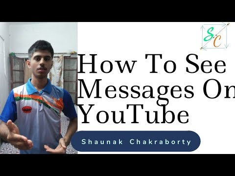 How To See Messages On YouTube