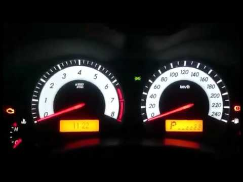 Adjusting Dashboard Light Intensity Toyota Corolla 2017