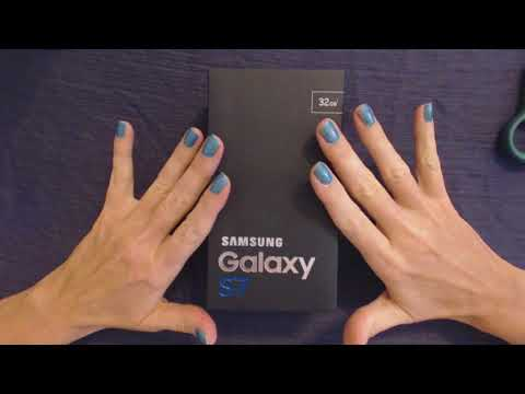 ASMR Whisper ~ Unboxing New Phone (Samsung Galaxy S7 Show & Tell)