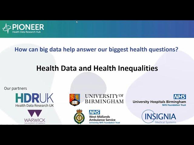 Health data and health data inequalities