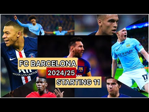 FC BARCELONA'S 2024/25 STARTING 11 | PLAYER TRANSFER UPDATES | BARCA DAILY NEWS