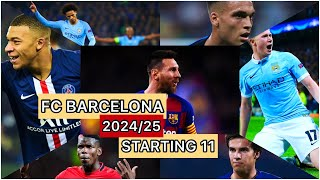 So this video is just about, what would barcelona look like 4-5 years from now ? be the starting 11 for team? basically will team lo...
