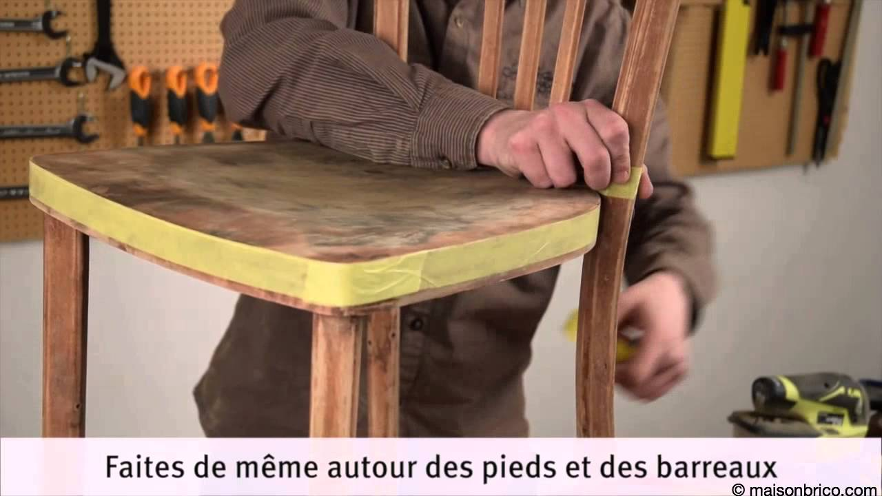 Repeindre Une Chaise Bistrot Youtube