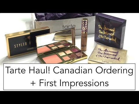 Tarte Haul - Canadian Ordering + First Impressions