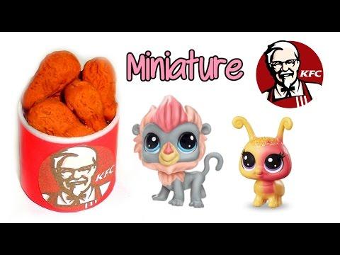 DIY Miniature Dollhouse KFC Food 🍗