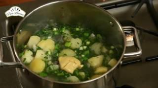 Картофельный суп с зеленью [Рецепты по-домашнему]