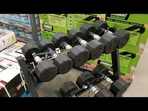 Costco Cap Barbell Weights Dumbbells Set With Rack  200lbs!!! $199!