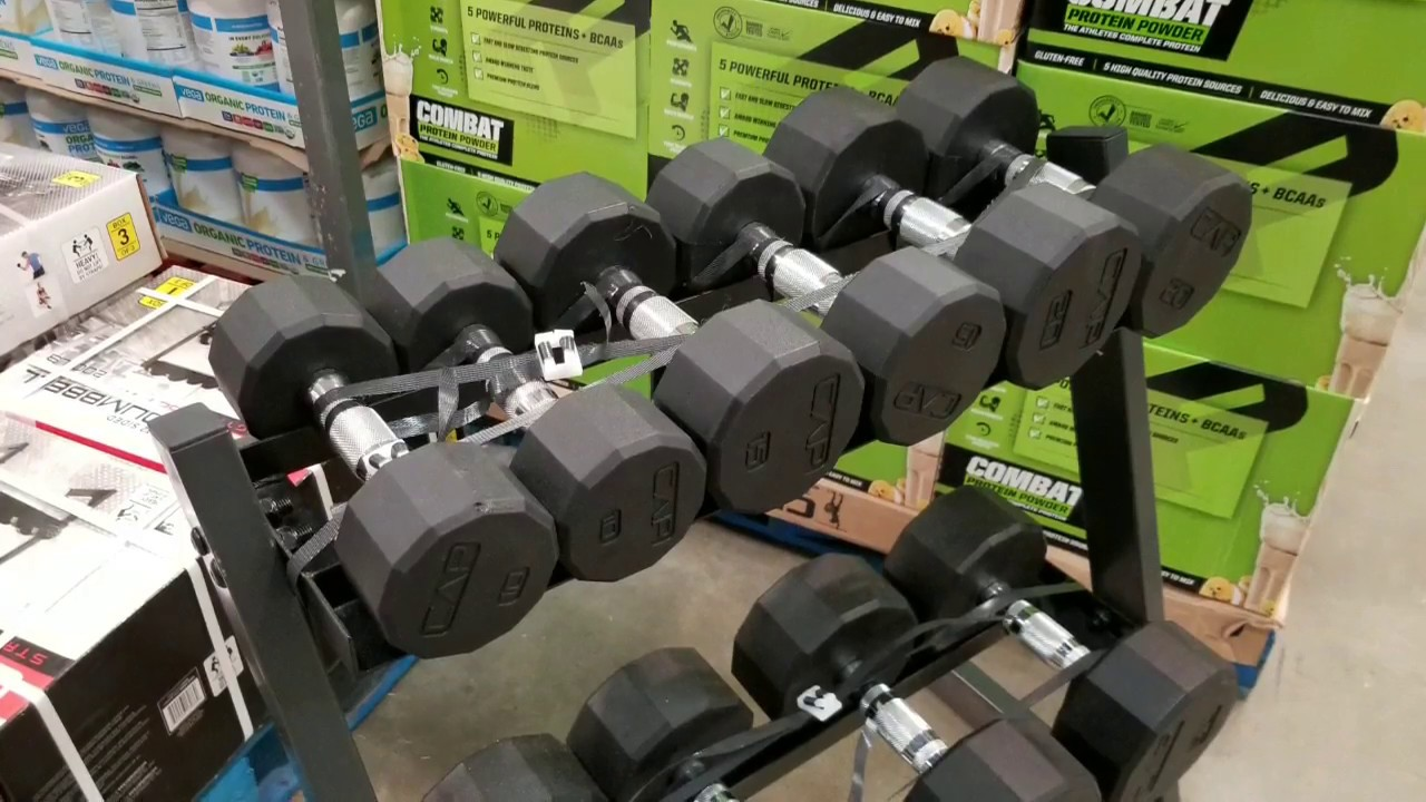 Costco Cap Barbell Weights Dumbbells Set With Rack 200lbs 199 Youtube