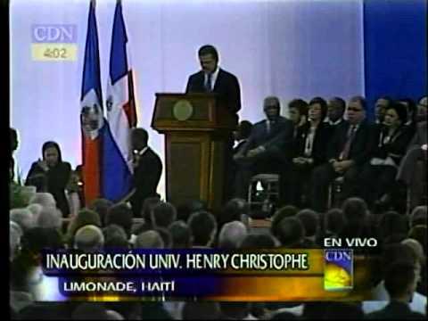 Inauguración de la Universidad Henry Christophe