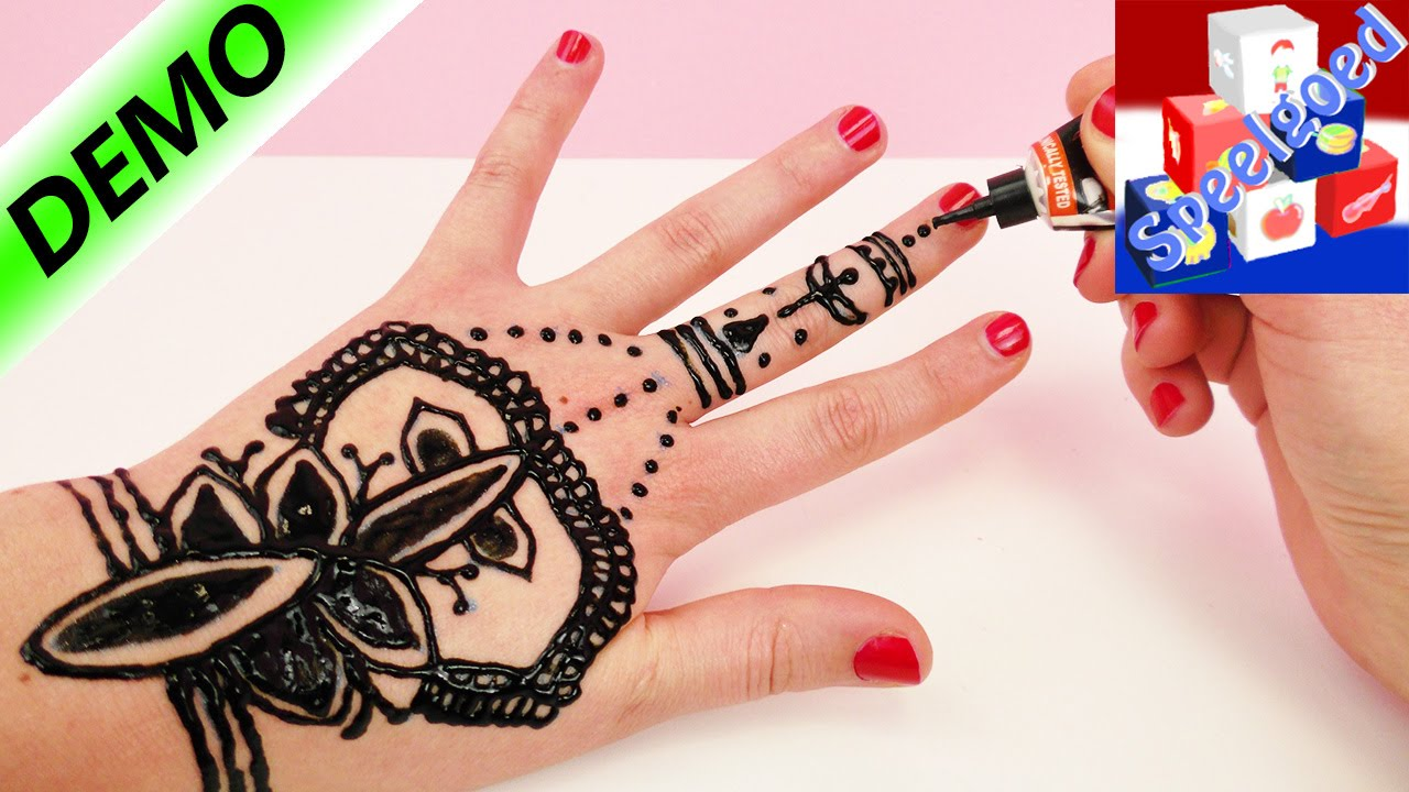 Henna Tattoo zelf maken | Henna Hand Tattoo tutorial Nederlands ... - Henna Tattoo Stift