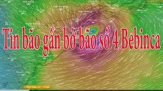 Dự báo thời tiết 15/8 : Bão giật cấp 11 tiến gần Hải Phòng -Thanh Hóa