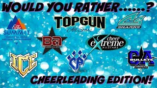 Would You Rather: All Star Cheerleading Edition // Archive Video