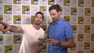 jeff dye at comic con 2015 with iddo goldberg