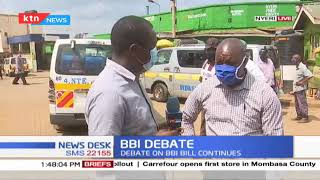 Debate on the BBI continues, residents from Nyeri express their views on the BBI document