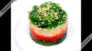 Салат  из водорослей чука Чук и Гек  Salad Chuk and Huck (seaweed Chuk)